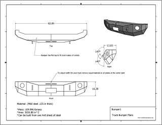 Chevy winch bumper plans